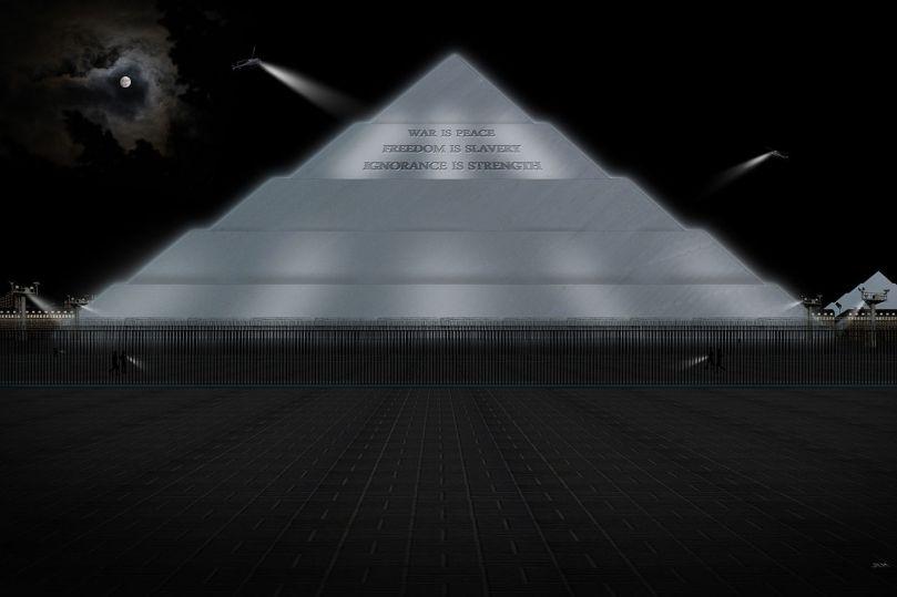 le ministère de la Vérité - l'un des lieux du roman de Georges Orwell 1984, image de Jordan L'Hôte / wikimedia